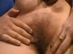 Three masked guys share chubby milf