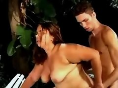 Dude hard drills latin chubby woman