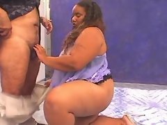 Megabusty ebony fatty sucks n fucks