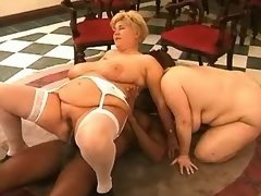 Plump housewifes jump on black cock