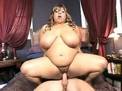 Blazing black BBW gets hot cumload