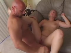 Portly housewife screwed by old man