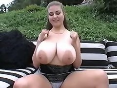 Portly busty mom shared by two guys