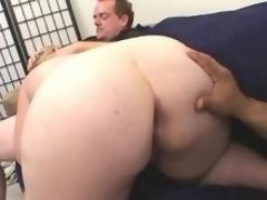 Men screw plump blonde w large tits