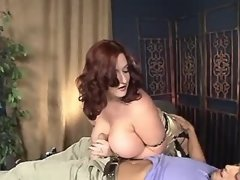 Fat secretary spoils amateur guy