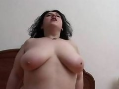 Chubby girl fucks and blows cock