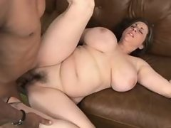 Plump mature gets cumload in mouth
